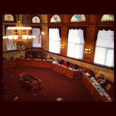 Streetcar hearing at Cincinnati City Hall. The Enquirer/Cara Owsley