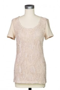 Type 2 Textured Flowers Top in Taupe  This is so quiet but interesting, and would go with almost everything!