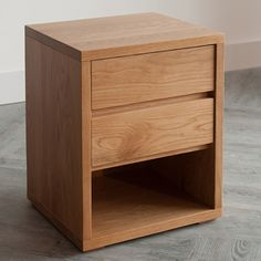 Compact Bedside Table steens mario natural pine kids 2 drawer bedside cabinet / table is
