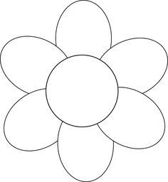Daisy pattern. Use the printable outline for crafts, creating