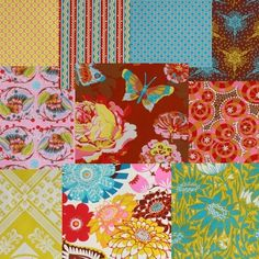 Anna Maria Horner is to fabric what Emeril is to cooking. She makes fabric fun again! I want to use these fat quarters to make an eclectic set of napkins.