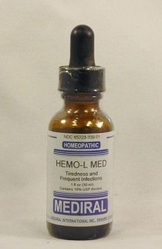 Natural Home Remedy for Tiredness and Frequent Infections | Hemo-L Med Homeopathic (1 fl oz) by Mediral www.eVitaminMarket.com