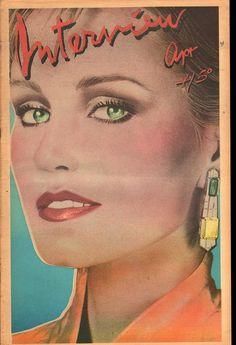 Jessica Lange 1979 Andy Warhol's Interview Magazine