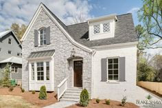 Stone and Painted Brick Tudor | Blake Shaw Homes | Atlanta, Athens, Custom Homes and Remodeling