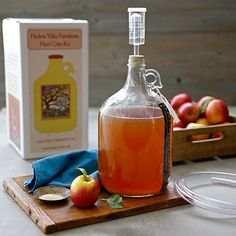 This kit will help you make hard cider at home.