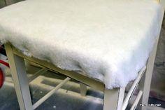 Making a chair cushion!