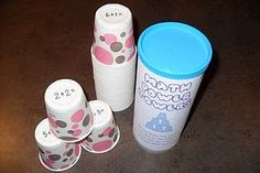 did i pin this already? pringles can. dixie cups.