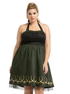 Marvel By Her Universe Collection Loki Cosplay Halter Dress by Torrid Disney Dapper Day, Avengers Costumes, Plus Size Halloween, Retro Halloween, Halloween 2016, Halloween Costumes, Loki Cosplay, Vestidos Halter, Trendy Plus Size Fashion