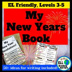 [original_tittle] – ELL Breaking Barriers [pin_tittle] My New Years Book, EL Friendly, Ideas Included! by ELL Breaking Barriers Teaching Resources, Teaching Ideas, Teaching Materials, Teaching Character Traits, Hello Teacher, School Health, Art Therapy Activities, Blog Love, Student Life