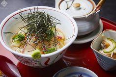 鞆の浦・季節料理 衣笠 さらりといただける鯛茶漬け。シンプルながら上品な鯛の味わいを存分に楽しめる