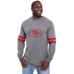 Pro Line San Francisco 49ers Legacy Football Jersey Long Sleeve T-Shirt - Gray  Nfl 1afd6de75