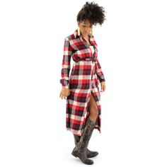 Settle down with the classic style of the Mad at Plaid Dress!