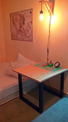 DIY laths base table | DIY Wall lamp