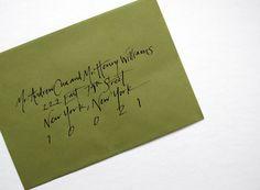 Addressing Envelopes _ like the handwriting