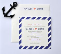 nautical theme invites