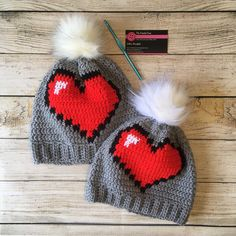 Mommy And Me, My Heart, Winter Hats, My Etsy Shop, My Favorite Things, Retro, Mid Century