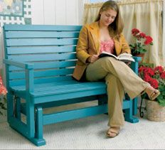 Woodworking Plans & Projects - Porch Glider Project Plan