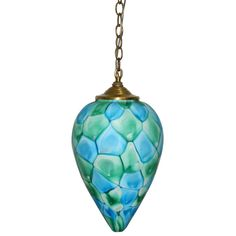 """Fratelli Toso Turquoise """"Nerox"""" Pendent Chandelier 