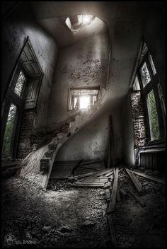 Cemeteries Ghosts Graveyards Spirits:  #Abandoned ~ Chateau De Noisy (Miranda Castle), Belgium.