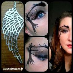 Quand j'ai commencé ce maquillage, j'étais partie pour faire des hiboux. J'aime bien les hiboux. Alors j'ai commencé par les imaginer sur une branche, puis [...]