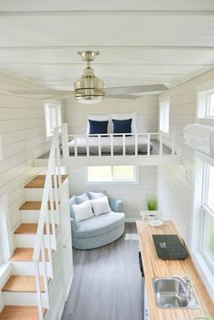 Tiny House Design Ideas To Inspire You; Easy Furniture DIY Projects For Interior… Tiny House Design Ideas To Inspire You; Easy Furniture DIY Projects For Interior Design; Cute Furniture Tiny House For Simple Life. Best Tiny House, Tiny House Plans, Tiny House With Loft, Tiny Loft, Small Tiny House, Large Living Room Furniture, Tiny House Furniture, Furniture For Small Spaces, Cute Furniture