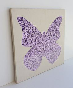Hand painted Kids Wall Art Butterfly Painting by SweetBananasArt, $40.00 Megan's room