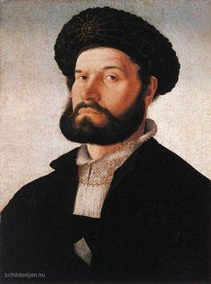 Jan van Scorel - Portret van een Venetiaanse Man (1520)