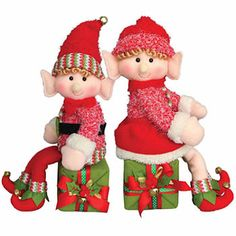The Holiday Aisle 2 Piece Elf on a Box Stuffed Holiday Accent Set Christmas Elf Doll, Christmas Figurines, Christmas Holidays, Merry Christmas, Christmas Crafts, Christmas Ornaments, Christmas Stuff, Christmas Yard Decorations, Santas Workshop