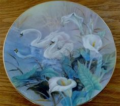 On Wings of Snow First Issue: The Swans Lena Liu 1st Edition Collector Plate   eBay $28.99