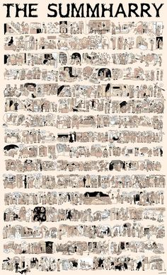 The entire Harry Potter saga in one illustration. - The entire Harry Potter saga in one illustration. Harry Potter Comics, Harry Potter Cinema, Magia Harry Potter, La Saga Harry Potter, Harry Potter Stories, Theme Harry Potter, Harry Potter Books, Harry Potter Wall Art, Harry Potter Poster