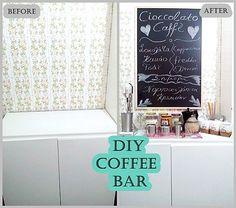 Diy Coffee bar στην κουζίνα