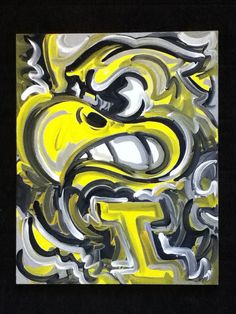 Iowa Hawkeyes Painting by Justin Patten