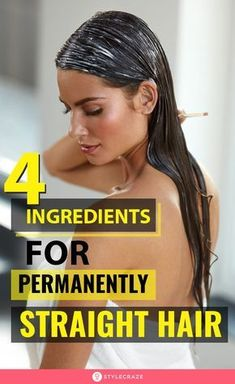 Straight Hair Tips, Natural Straight Hair, Straight Hairstyles, Natural Hair Styles, Diy Hair Treatment, Hair Growth Treatment, Homemade Hair Treatments, Natural Hair Treatments, Permanent Straightening