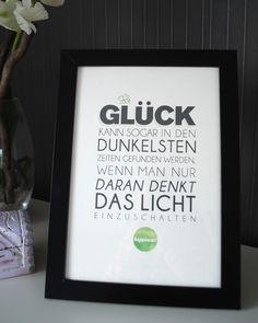 Glück finden -  Druck von Formart von FORMART - Zeit für Schönes! auf DaWanda.com