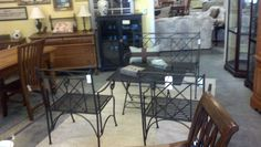 Outdoor metal furniture set