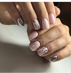 Nail art Christmas - the festive spirit on the nails. Over 70 creative ideas and tutorials - My Nails Acrylic Nail Shapes, Acrylic Nail Designs, Nail Art Designs, Neutral Nail Designs, Acrylic Nails, Classy Nails, Simple Nails, Cute Nails, Hair And Nails