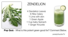 YUMMY! Just made this green drink - so good - for more recipes - http://www.amazon.com/Juicing-Recipes-Fitlife-TV-Vitality-ebook/dp/B007DDQYCU/ref=cm_cr_pr_product_top