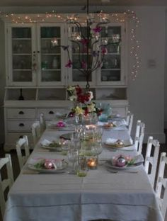 sparkly dining room