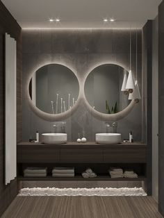 Home Decor Tips Love these mirrors lighting and vanity. I want to replace my current master bathroom items with these.Home Decor Tips Love these mirrors lighting and vanity. I want to replace my current master bathroom items with these. Modern Bathtub, Modern Bathroom Design, Bathroom Interior Design, Modern Bathrooms, Bath Design, Modern Powder Rooms, Minimal Bathroom, Interior Livingroom, Small Bathrooms