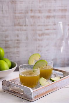 green apple ginger cocktails