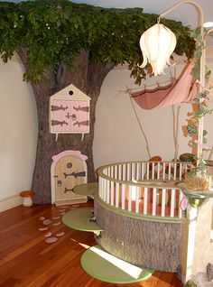 A Fairy Garden Nursery....change the bed and could easily turn this into a toddler/girls room :)