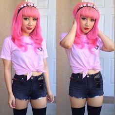 Colorful Hair, Makeup & Nails - Cutie Pie :)