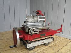 UKAA buy and sell Vintage Berkel & Parnalls Bacon Slicer - slicing machine from a butchers online and for sale in our architectural salvage and reclamation yard in cannock wood staffordshire. Reclamation Yard, Meat Slicers, Cast Iron Radiators, Architectural Antiques, Prosciutto, Om, Numbers, Times