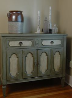 example of two toned painted dresser