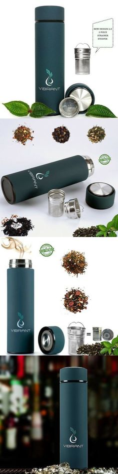 Drink Containers and Thermoses 177006: Vibrant All In One Travel Mug - Tea Infuser Bottle - Insulated Hot Coffee - Cold -> BUY IT NOW ONLY: $30.99 on eBay!