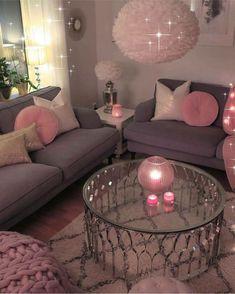 Romantic Living Room Decor With Valentine Themes 42 Romantic Living Room, Cozy Living Rooms, Living Room Grey, Apartment Living, Apartment Ideas, Barn Living, Studio Apartment, Deco Design, Design Design