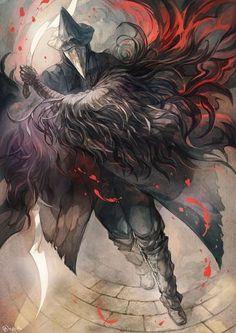 Dark figure illustration art