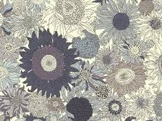 Liberty of London Fabric Lawn Fabric Oh Susanna Grey fat quarter sunflower fabric floral fabric apparel fabric London Oh Susanna