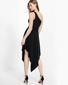 One Shoulder Belted Asymmetrical Maxi Dress