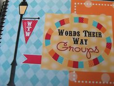 Words Their Way--Record Book - Second Story Window  I want to try this for the last few weeks of this year.  LL